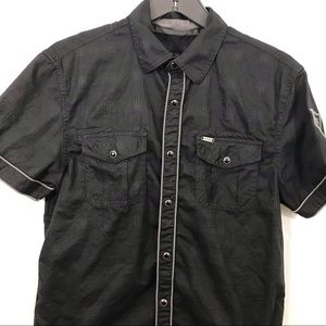 Guess Torres Style Snap Button Short Sleeve Shirt